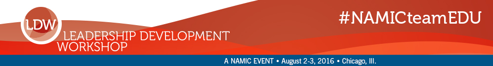 NAMIC Leadership Development Workshop, August 2-3, 2016,  Chicago, Ill.